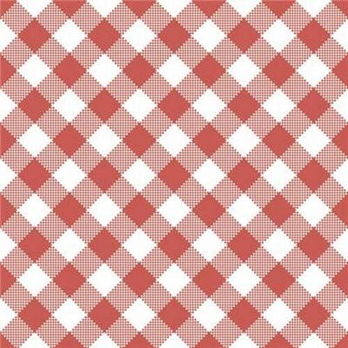 Servietten Muster 20 tovaglioli diagonali a Quadretti Rossi e Bianchi Come Decorazione da Tavolo per Tutte Le Occasioni e per Il Fai da Te 33 x 33 cm.