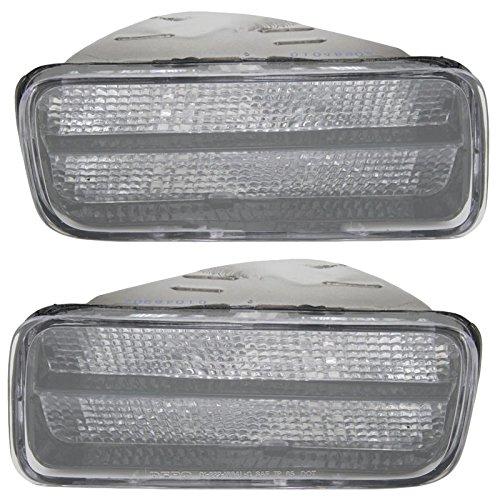 Side Corner Parking Light Lamp Clear Pair Set for 85-92 Chevrolet Camaro Z28 -
