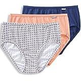Jockey Women's Underwear Elance Hipster - 3 Pack, Coral Reef/Geo Petals/Egyptian Blue, 7