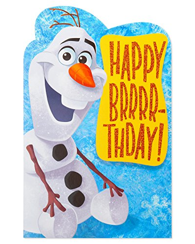 American Greetings Frozen Olaf Birthday Card with -
