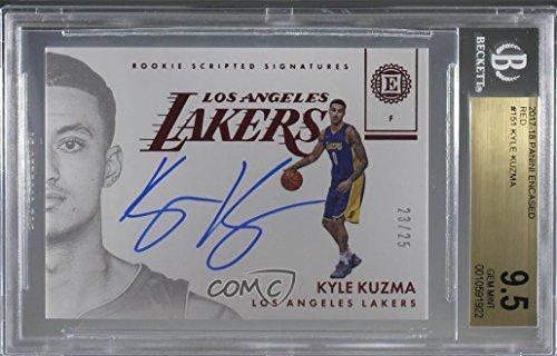 - Kyle Kuzma Graded BGS 9.5 GEM MINT #23/25 (Basketball Card) 2017-18 Panini Encased - [Base] - Red #151