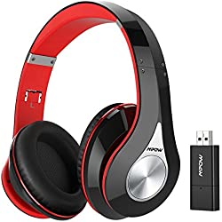 Mpow TV Headphones, 059 Bluetooth Headphones with Bluetooth Transmitter & Carrying Case SET, Plug & Play, Foldable, Light Weight & Protable, Hi-Fi Stereo Wireless Headset for TV/Cell Phones/PC