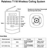 Retekess T118 Restaurant Pager System,Wireless