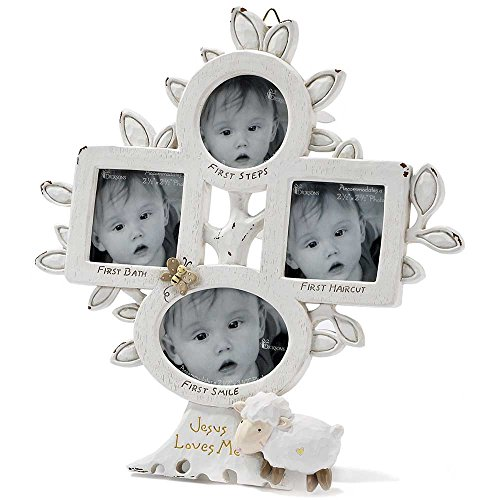 Dicksons Baby's Firsts with Jesus Loves Me Photo Frame, White by Dicksons