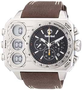 Timberland TBL.13673JS/02 - Reloj analógico - digital de cuarzo para hombre, correa de cuero color marrón