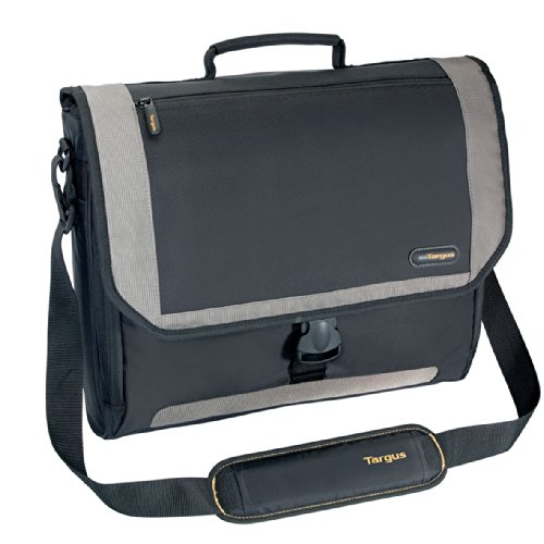Targus CityGear Miami Messenger Case for 17-Inch Laptop, Black/Grey (TCG200)