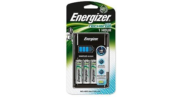 Cargador para Pilas AA y AAA, de Energizer, Recarga en 1 ...