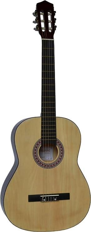 Tamaño completo 4/4 (39 pulgadas de) clásica guitarra acústica con cuerdas de Nylon Natural: Amazon.es: Instrumentos musicales