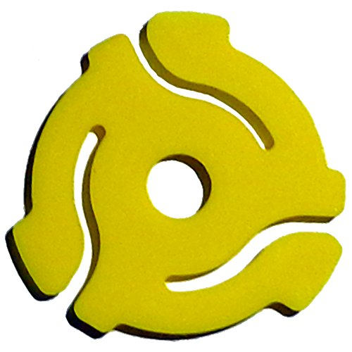(10 Pack) TEN Yellow Plastic 45 RPM 7 Inch Vinyl Record Adaptor - 7
