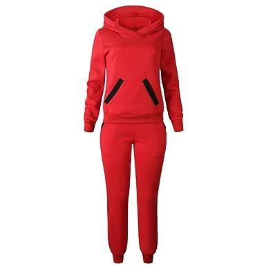 Devoted New Womens Tracksuit Hoodies Sweatshirt Pants Sets Sport Wear Zipper Casual Suit Clothing, Shoes & Accessories