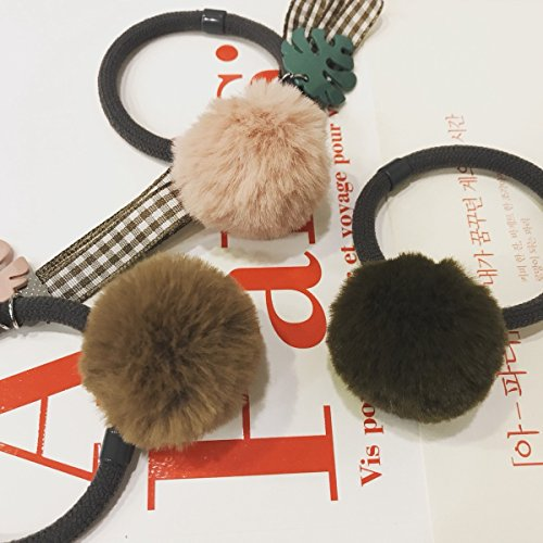 usongs Korea headdress fresh and lovely Meng Meng small cactus simple hair accessories Leather grass ()