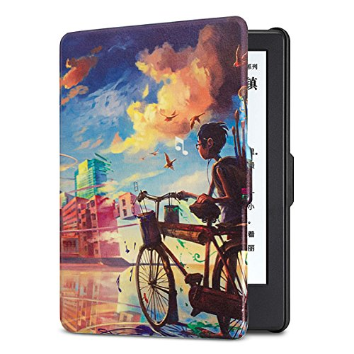 ISeeSee  Case for Kindle Paperwhite - The Thinnest and Lightest PU Leather Cover Auto Sleep/Wake for All-New Amazon Kindle Paperwhite (Fits All 2012, 2013, 2015 and 2016 Versions),Bimbaloo by ISeeSee