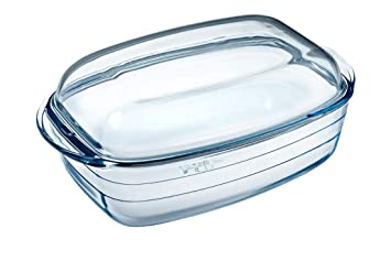 Ôcuisine 4937327 - Cacerola rectangular 4,5 l, 37,5 x 10,6 x 22,5 cm, color transparente: Amazon.es: Hogar