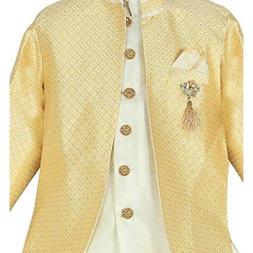 51VOFbBmrOL. SS500  - AHHAAAA Kids Ethnic Wear Waistcoat, Indo Western Sherwani and Dhoti Pant for Boys