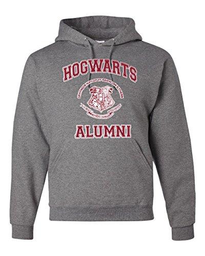 Hogwarts Alumni Harry Potter Unisex Hooded Sweatshirt Fashion Hoodie ( Heather Grey , Small )