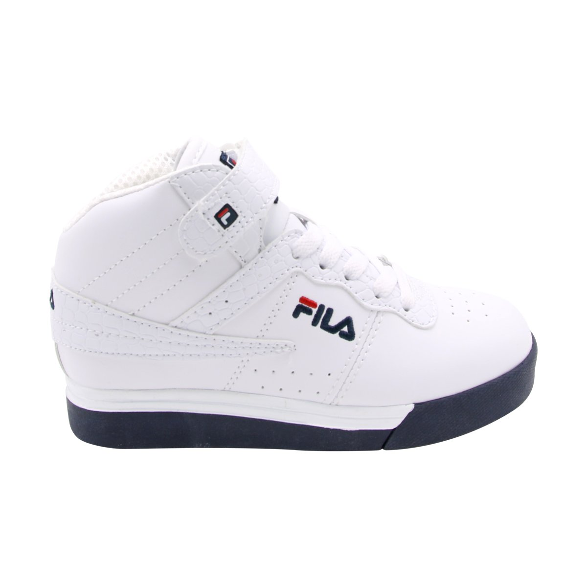 8428bede15ac Amazon.com: Fila - Boy's Vulc 13 Mid Sneakers (Little Kid/Big Kid) - White/Navy/Red:  Shoes