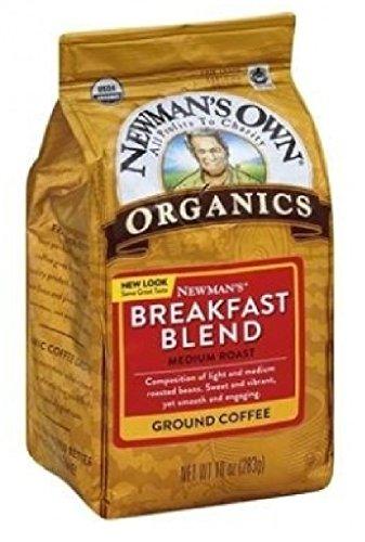 Newman's Own Organics Newman's Breakfast Blend, Ground Coffee, Medium Roast, Bagged 10 oz