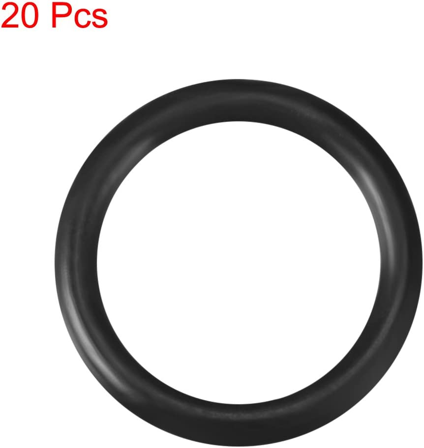 uxcell Nitrile Rubber O-Rings 11.2mm OD 7.6mm ID 1.8mm Width Pack of 20 Metric Buna-N Sealing Gasket