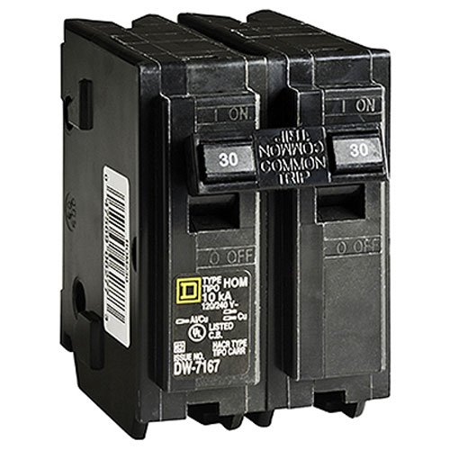 SQUARE D BY SCHNEIDER ELECTRIC HOM230C DP Circuit Breaker, 30 Amp