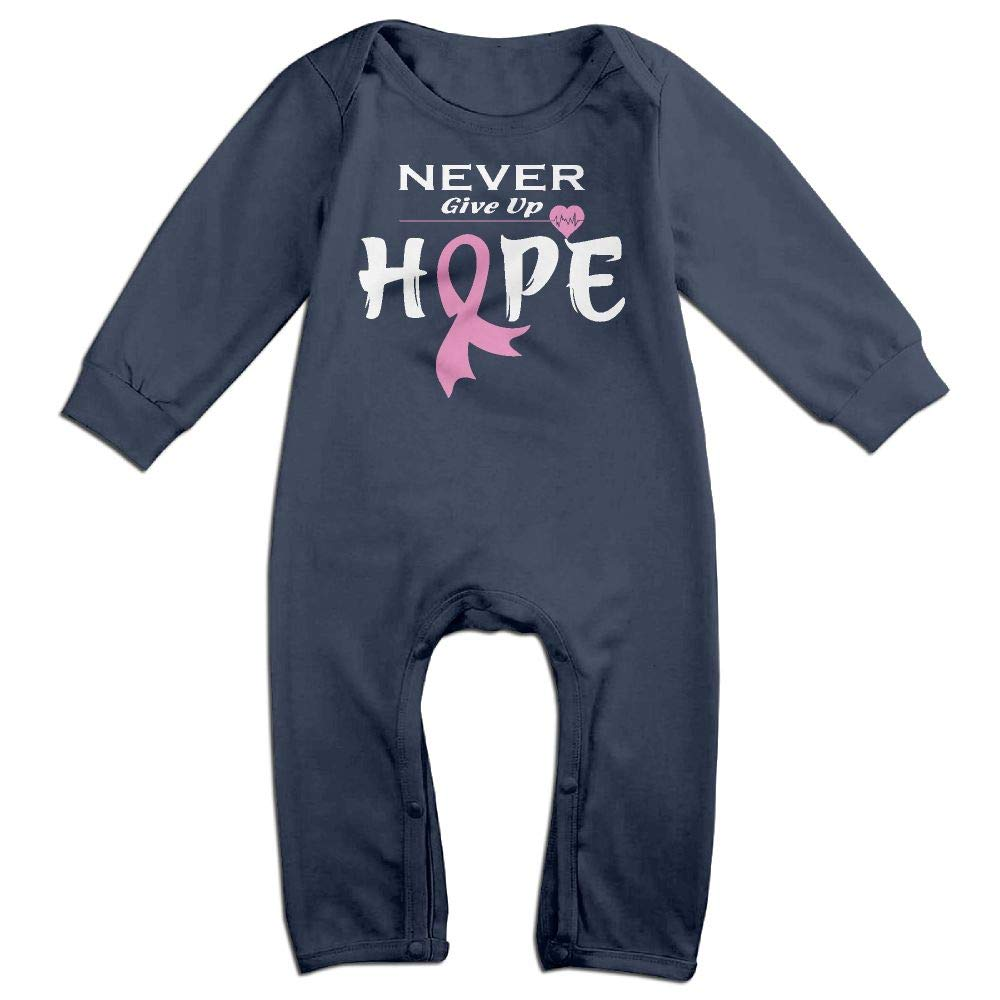 Mri-le1 Baby Girls Coverall Breast Cancer Awareness-1 Baby Clothes