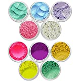 Bath Bomb Powder Colors Mineral Matte Oxide, Neon & Pearl Shimmer Mica Powder DIY For Soap Making, Cosmetic, Candle Making, Nail Art, Resin Jewelry, Artist, Acrylic and other Craft Projects. Set 3 & 12 (3) Gram Jars