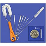 7-Piece Precision Fine Detail Nylon Cleaning Brush Set - 1 to 5mm