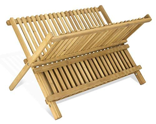 - Home Basics Foldable Bamboo Dish Drainer