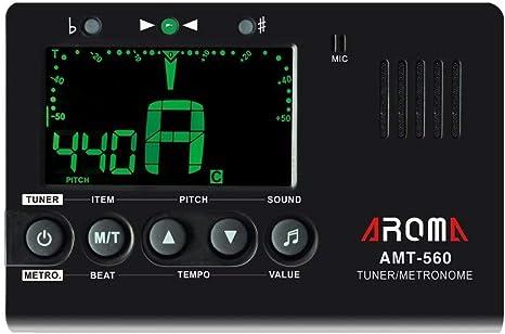 Metronomo y afinador cromatico con generador de tono Aroma AMT-560 ...