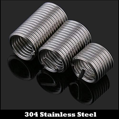 IDPitchXD 304 Stainless Steel 304ss Repair Screw Bushing Sleeve Coil Wire Thread Insert Ochoos 20Pcs M5 M50.82.5D M5x0.8x2.5D