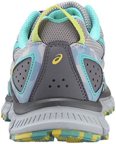 Asics Womens Gel-scram 3 Trail Runner Grigio Medio / Turchese / Alluminio