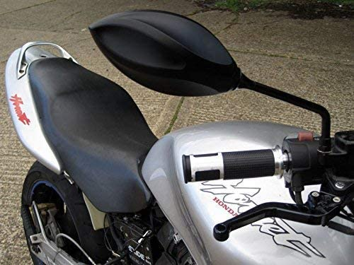 Sleek smooth look Top Quality Black slimline Motorbike Mirrors pair