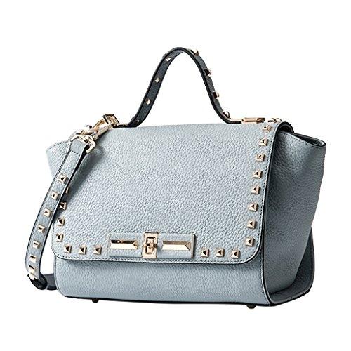 di primo delle tracolla elaborazione donne Nero qualità a cuoio donne di borse Colore dimensioni UK delle strato le Mena di borse di per Handbags cuoio delle dell'unità Totes Blue Grey di Il borse 33cm E0w1SqnPT