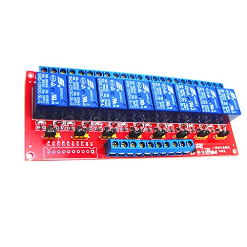 MagiDeal 3V 8-Channel Relay Module with Optocoupler H/L Level Triger for Arduino