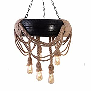 HQLCX Chandelier Loft Industrial Wind Retro Car Tire Chandelier Clothing Bar Restaurant Decoration Lamp Chandelier Rope