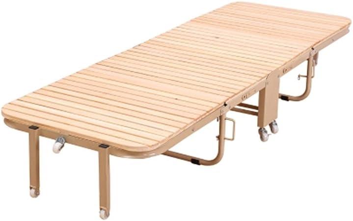 Bases para camas Cama Plegable Casa Cama Individual Plegable Cama De Madera Cama Acompañante Oficina Almuerzo Cama Balcón Jardín Sofá Cama (Color : Brown, Size : 204 * 65 * 29.5cm): Amazon.es: Hogar