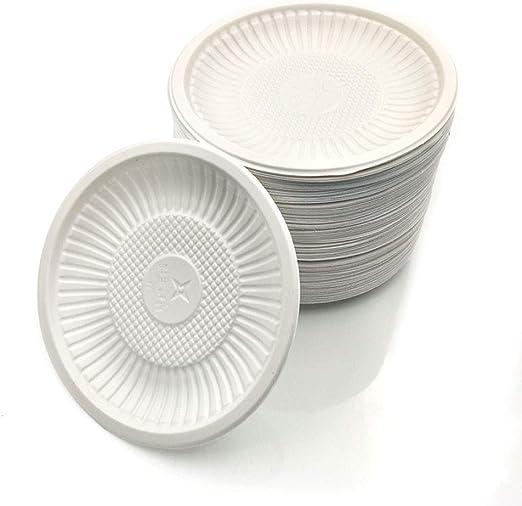 5inch vajilla desechable Eco-friendly biodegradable saucer almidón ...