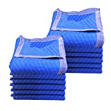 "Pro Economy Moving Blankets (12 Pack) 35lbs/doz 2.92lb/ea 72""x80"" Blue"