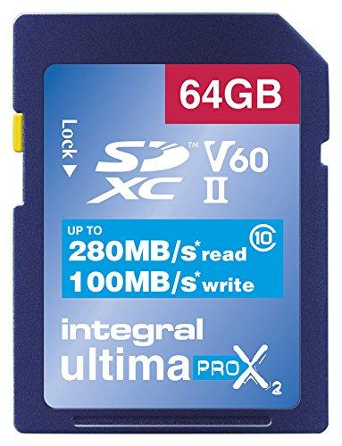 Integral - Tarjeta de vídeo Velocidad V60 64 GB 280/100 MB/s UHS ...