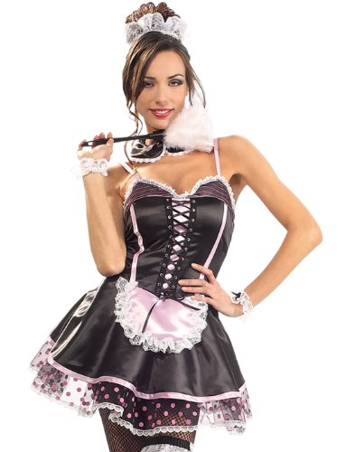Women Medium (10-12) Naughty French Maid Costume (accessories not included) ()