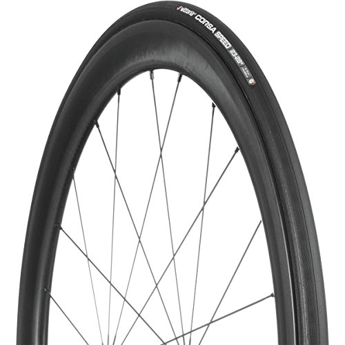 - Vittoria Corsa Speed G Plus Tire - Tubular Black/Black, 700c x 25mm