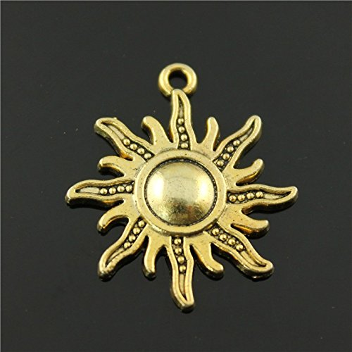 (NEWME 30Pcs sun Charms Pendant For DIY Jewelry Wholesale Crafting Bracelet and Necklace Making)