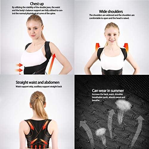 バックサポートベルト ザトウクジラ矯正服 成人児童生徒の背中の開いた肩の人工物 脊柱側sc症/背部矯正ベルト (Color : Black, Size : XL)
