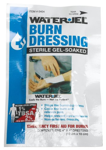 First Aid Only 4'' X 4'' Water Jel Burn Dressing, Sterile (Pack of 3) by First Aid Only