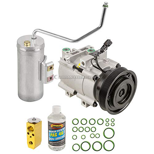 (AC Compressor w/A/C Repair Kit For Hyundai Sonata Kia Optima V6 2003 2004 2005 - BuyAutoParts 60-80288RK New )