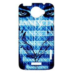 3D Print Famous Metal Band Evanescence Lead Singer&Amy Lee Background Case Cover for HTC One X- Personalized Hard Cell Phone Back Protective Case Shell-Perfect as gift