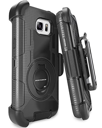 Note 5 Case, Galaxy Note 5 Case, BENTOBEN Samsung Galaxy Note 5 Case Shockproof Heavy Duty Hybrid Full Body Rugged Holster Protective Case for Samsung Galaxy Note 5 With Kickstand + Belt Clip (Black) (Phone Case Samsung Galaxy 5)
