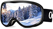 Occffy Ski Goggles Winter Snowboard Sports Goggles with UV Protection Anti Fog Design for Mens Womens Skiing S
