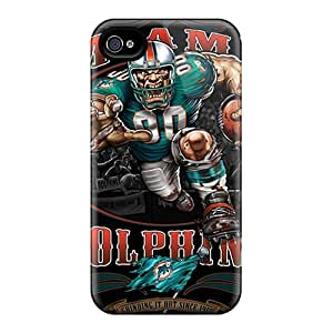 LavernaCooney Iphone 4/4s Protector Hard Phone Covers Customized Realistic Miami Dolphins Pattern [CSm16493kGNW]