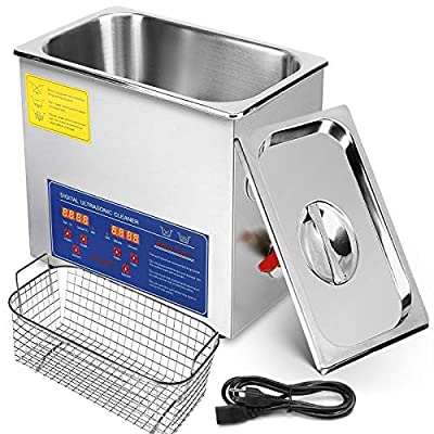 Mophorn Ultrasonic Cleaner Heater Timer Commercial Ultrasonic Cleaner Professional Stainless Steel Industrial Ultrasonic Cleaner Jewelry Cleaner with Heater Timer