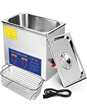 Mophorn Ultrasonic Cleaner 6L Total 380W Commercial Ultrasonic Cleaner Professional Stainless Steel Industrial Ultrasonic Cleaner with Heater Timer